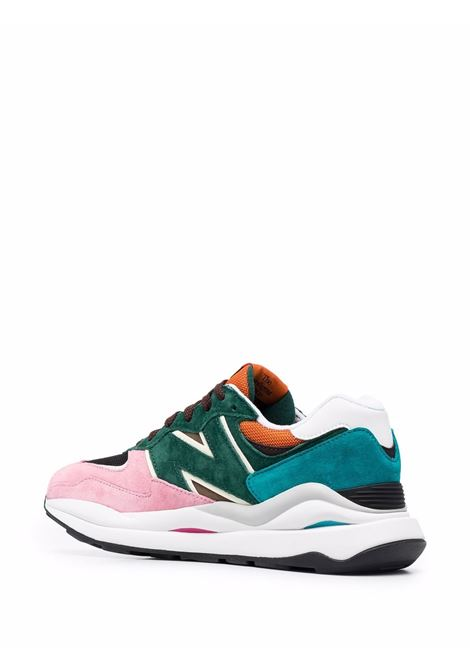 Green pink low-top lace-up sneakers - men  NEW BALANCE | M5740FM1GRNPNK