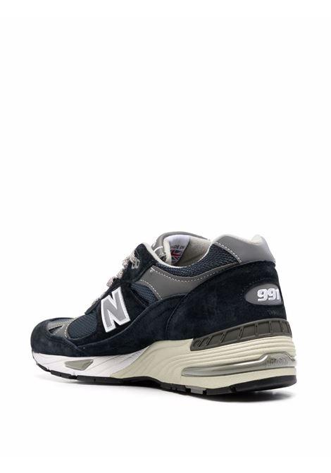 Navy blue 991 low-top sneakers - men  NEW BALANCE | NBM991NVNVY