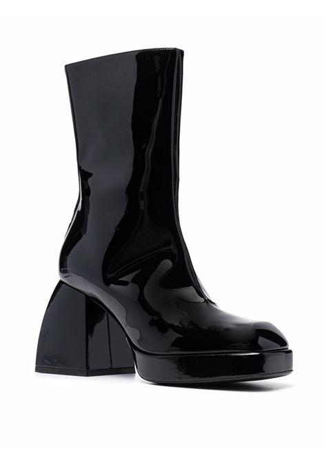 Black high-shine ankle boots - women  NODALETO | NO7427BLK