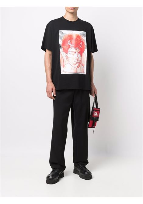 Black drop-crotch straight trousers - men  OAMC   OAMT310136OT200200001