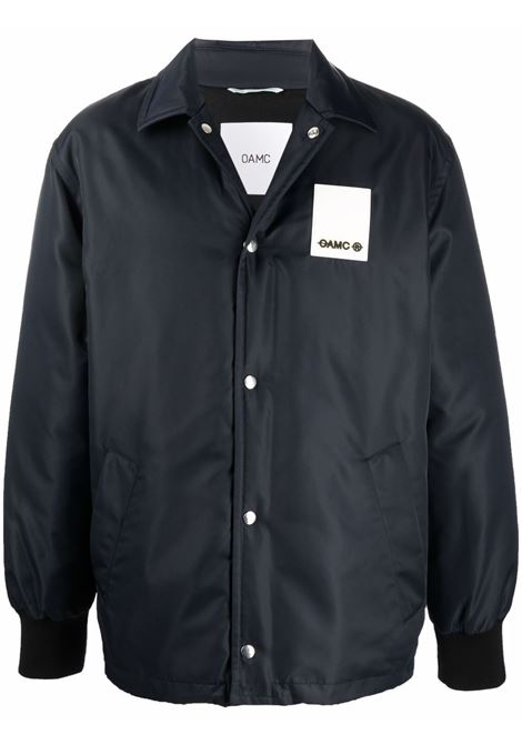 Giacca-camicia con applicazione in blu - uomo OAMC | OAMT443166OT460100A401