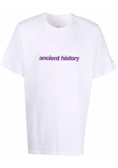 White ancient history slogan T-shirt - men OAMC   OAMT708467OT247908A100