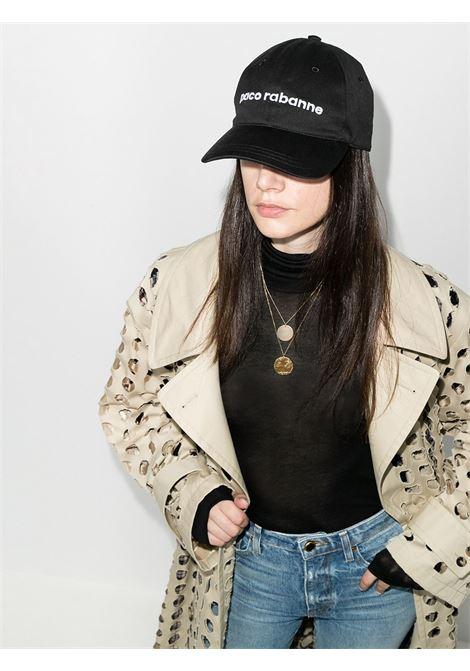 Cappello da baseball con logo in nero - donna PACO RABANNE   20ACAC037C00373P001