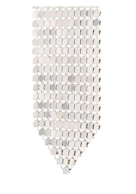 Silver colored metal mesh earring - woman PACO RABANNE | 20PBB0002MET042P040