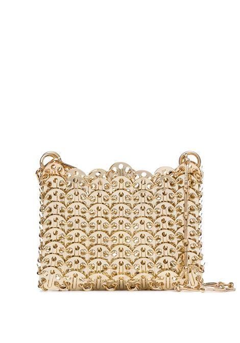 Mini bag with metal discs in gold - woman PACO RABANNE | 20PSS0127MET002P711