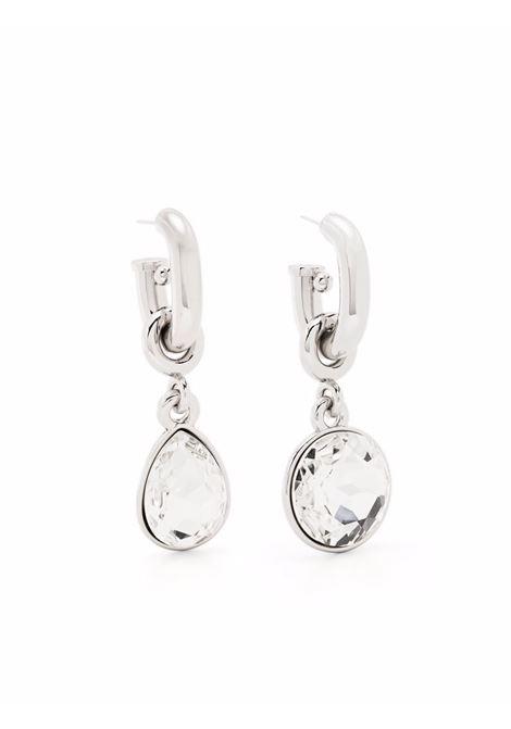 Silver XL Link crystal drop earrings - women  PACO RABANNE | 21ABB0172MET199M062