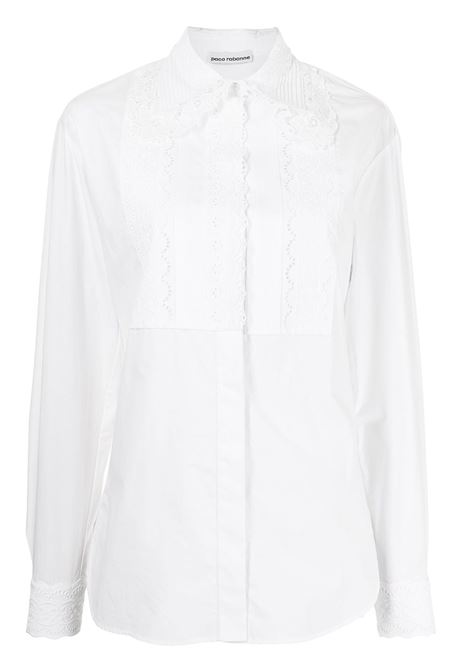 White lace-embellished shirt - women  PACO RABANNE | 21ACCE063C00296P100