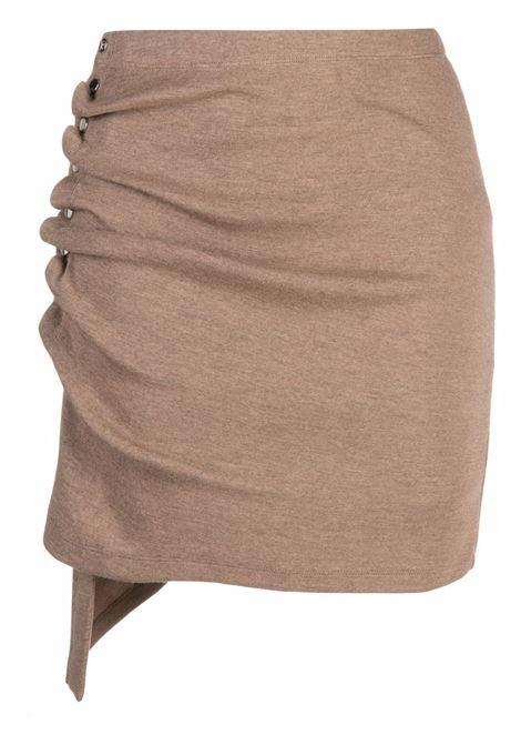 Beige ruched skirt - women  PACO RABANNE | 21AJJU226LA0214210