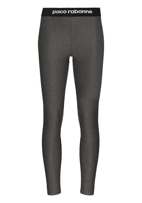 Grey leggings with logo - women  PACO RABANNE | 21AJPA001VI0041033