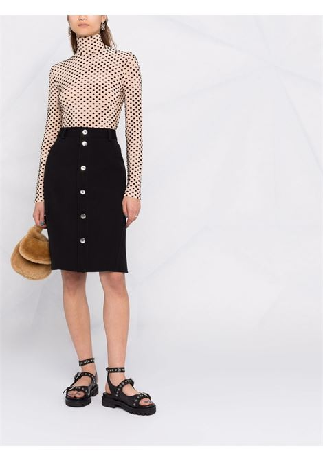 Ivory polka-dot top - women  PACO RABANNE | 21AJT0304VI0304V277