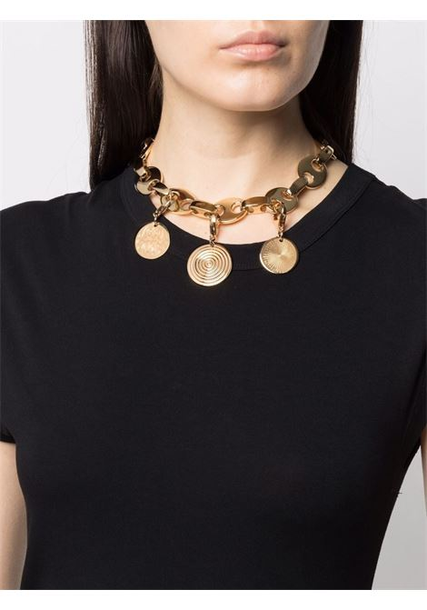 Chain link multi-charm necklace gold - women PACO RABANNE | 21HBB0100MET202P710