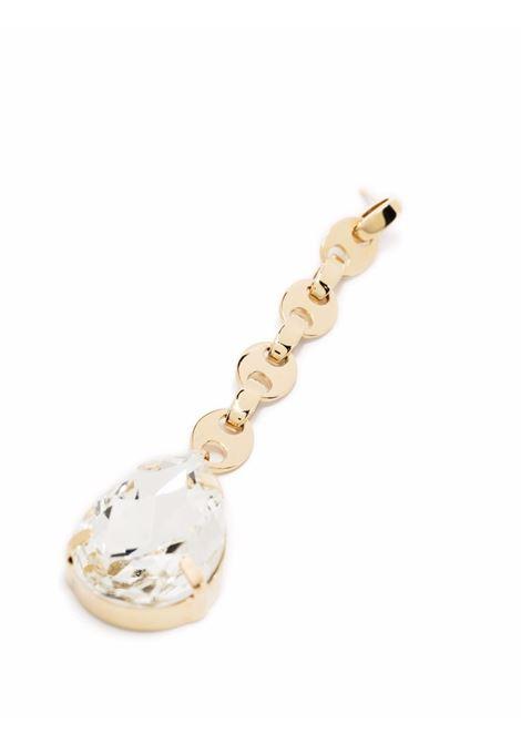 Nano crystal drop earrings gold - women PACO RABANNE | 21HBB0178MET079P710