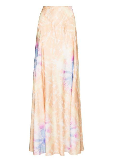 Tie-dye print maxi skirt multicolored - women  PACO RABANNE | Skirts | 21HCJU049P00208V830