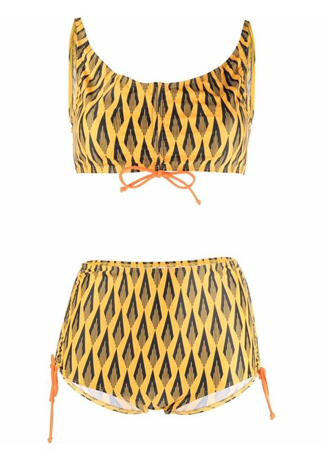 Ciao paco geometric-print bikini yellow black - women  PACO RABANNE | 21HJMB007PA0181V724