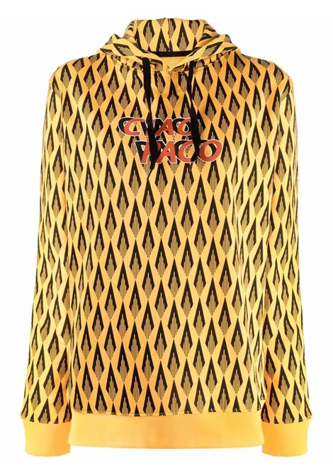 Ciao paco geometric-print sweatshirt yellow black - women  PACO RABANNE | 21HJSW036C00413V724