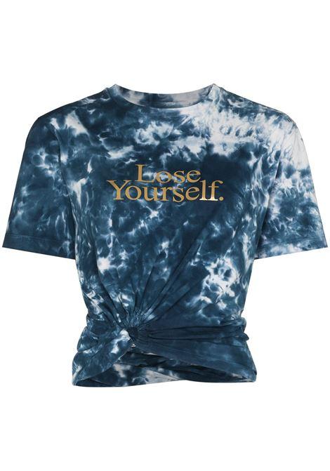Tie-dye print t-shirt blue - women PACO RABANNE | 21HJTE054C00410M414