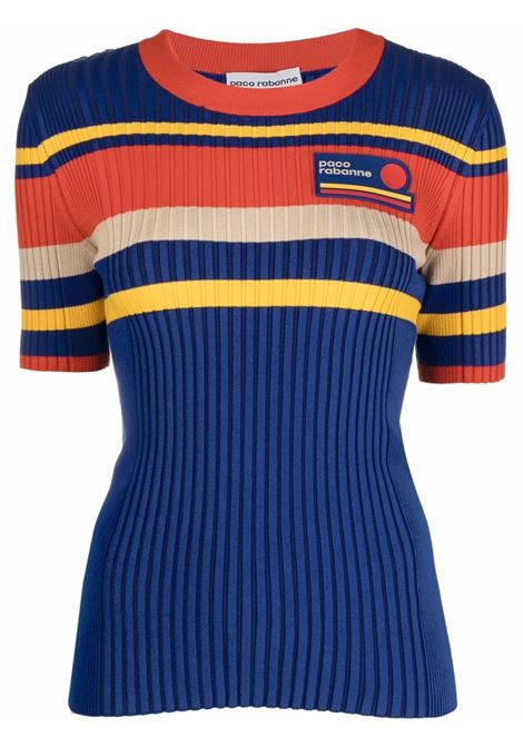 Multicolored ribbed-knit Top - women  PACO RABANNE | 21HMT0130ML0149V462