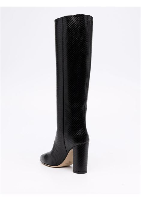 Snakeskin-effect boots in black - women PARIS TEXAS | PX120XPCLSLV