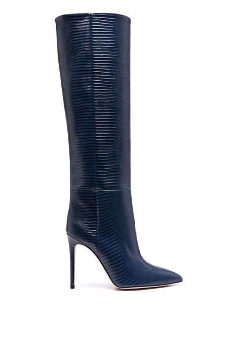 Lizard-effect knee-high boots blue - women PARIS TEXAS | PX133XTJS5JNS