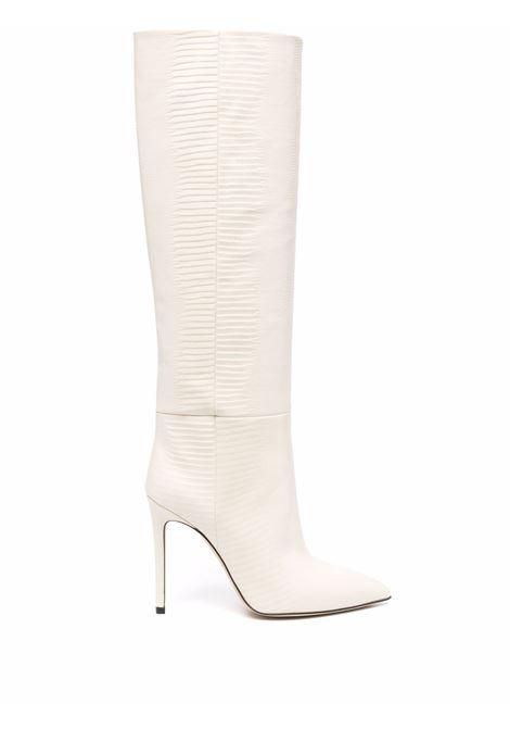 Lizard skin-effect knee-high boots vanilla- women PARIS TEXAS | PX133XTJS5VNLL