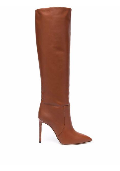Brown knee-length leather boots - women  PARIS TEXAS | PX501XNPP3CUOIO