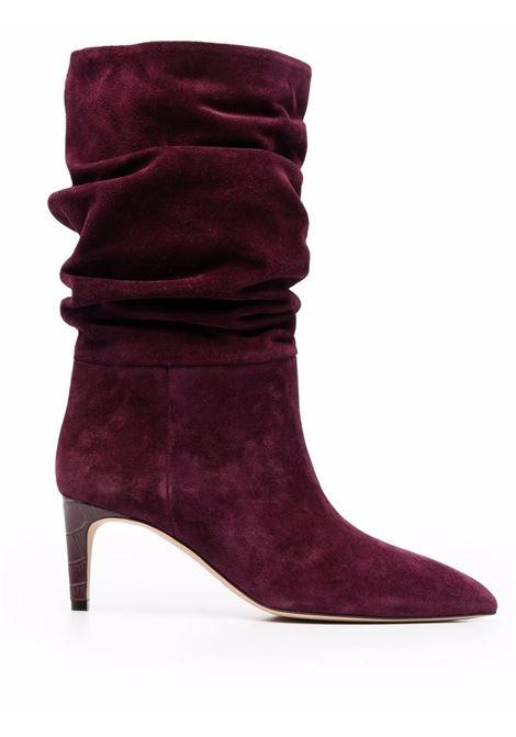 Slouchy suede boots in cocoa bordeaux - women PARIS TEXAS | PX511XV003CBRNT