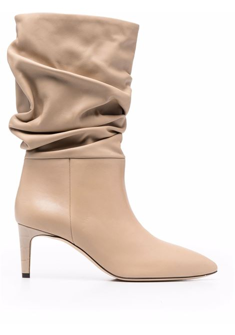Slouchy leather boots in beige - women PARIS TEXAS | PX511XVT01BG