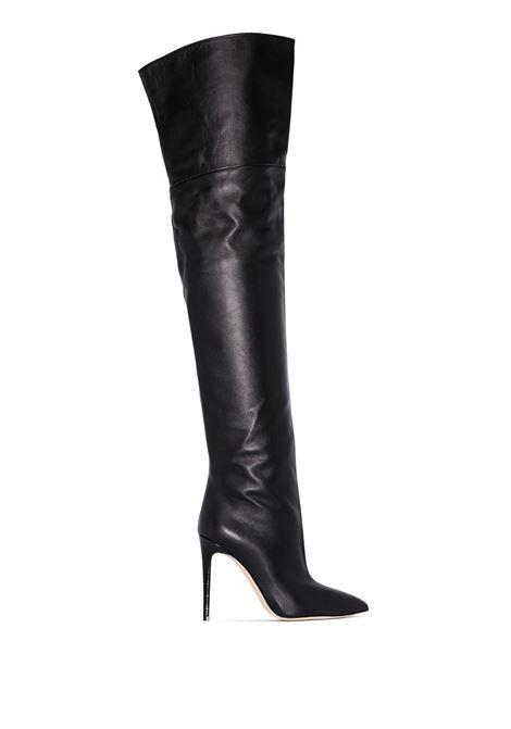 Black over-the-knee 105mm boots - women  PARIS TEXAS | PX512XNPP3BLK