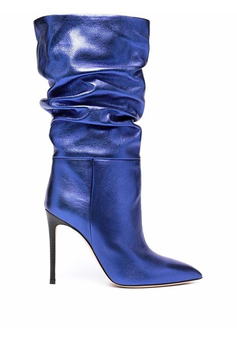 Blue 110mm gathered-detail pointed-toe boots - women  PARIS TEXAS | PX514XNPL3ELCTRCBL
