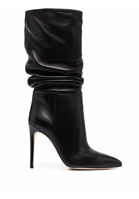 Slouchy leather boots with stiletto heel in black - women PARIS TEXAS | PX514XNPP3BLK