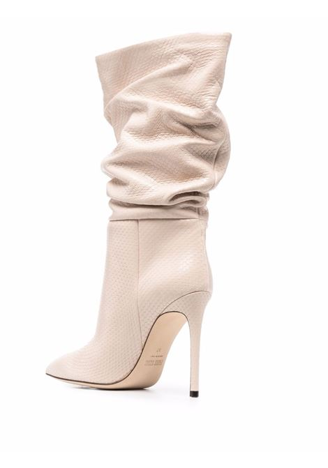 Slouchy leather boots with stiletto heel in beige - women PARIS TEXAS | PX514XPCLSFRDLTT
