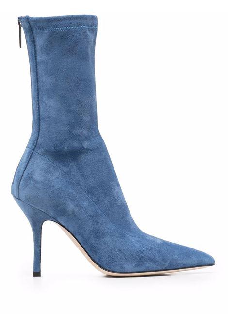 Pointed toe suede ankle boots jeans blue - women PARIS TEXAS | PX604XVST3JNS