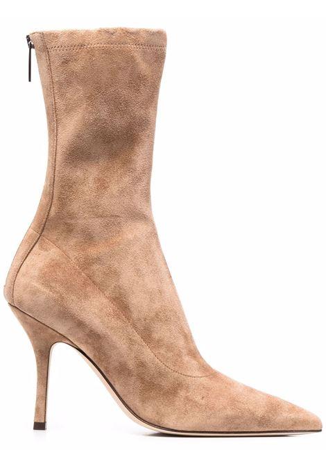 Pointed toe suede ankle boots biege - women PARIS TEXAS | PX604XVST3NCCL