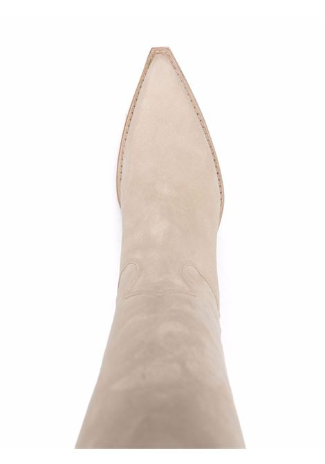 Beige pointed-toe suede Western boots - women  PARIS TEXAS | PX615XV003ANGR