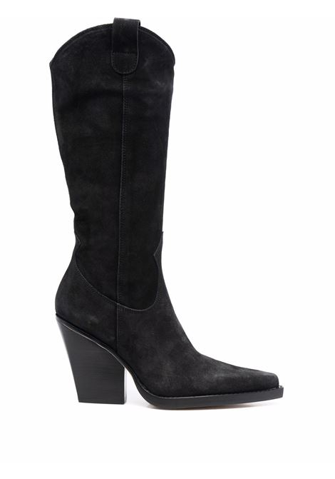 Western style Vegas 100mm boots in black - women  PARIS TEXAS | PX615XV003BLK