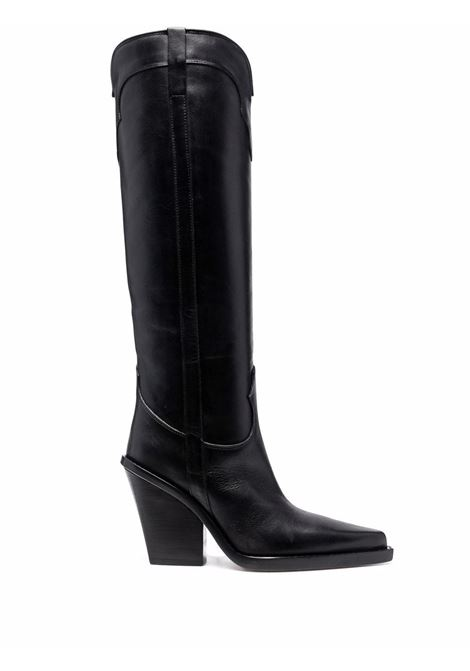 Knee-high pointed-toe boots in black - women PARIS TEXAS | PX685XVT04BLK