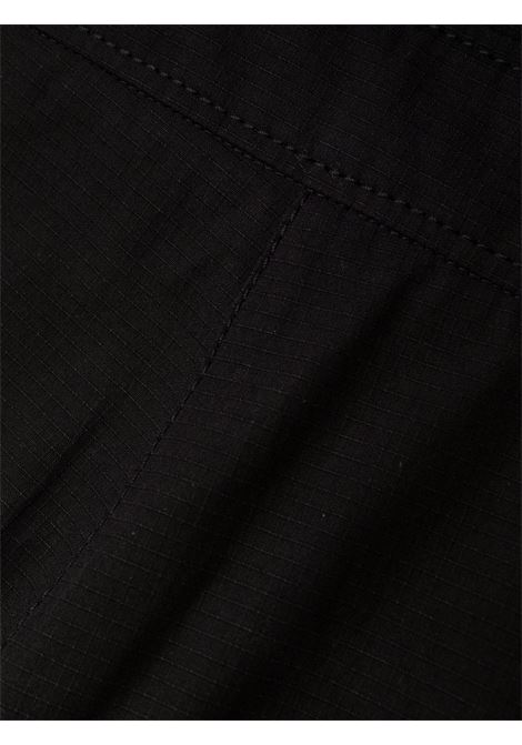 Black high-waisted button-up shorts - women  PHILOSOPHY DI LORENZO SERAFINI | A03017121555