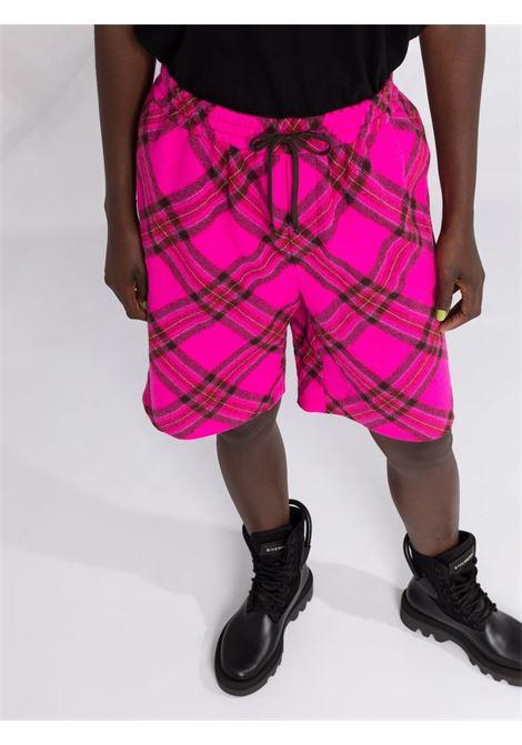 Tartan check print shorts in pink - women  PHILOSOPHY DI LORENZO SERAFINI | A032157361219