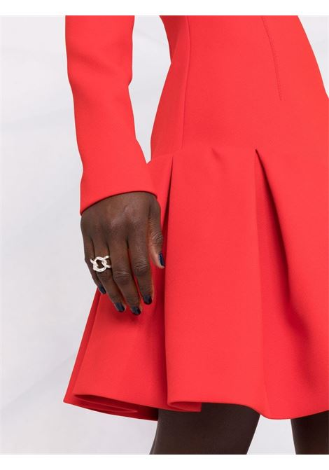 Red pleated hem long-sleeve dress - women  PHILOSOPHY DI LORENZO SERAFINI | A04507123112