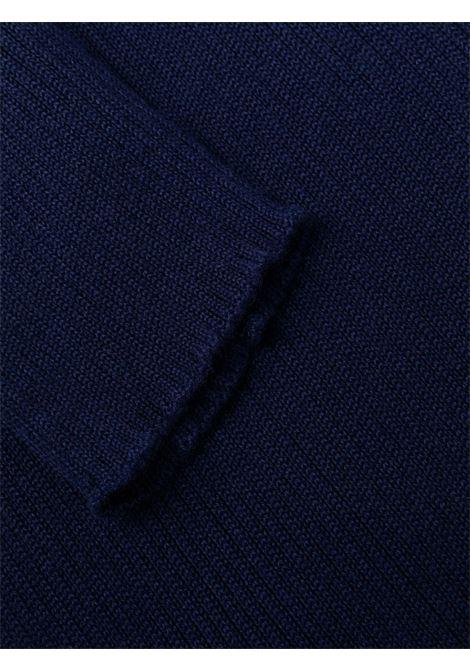 Fine-knit roll neck dress blue - women  PHILOSOPHY DI LORENZO SERAFINI | A04805701342
