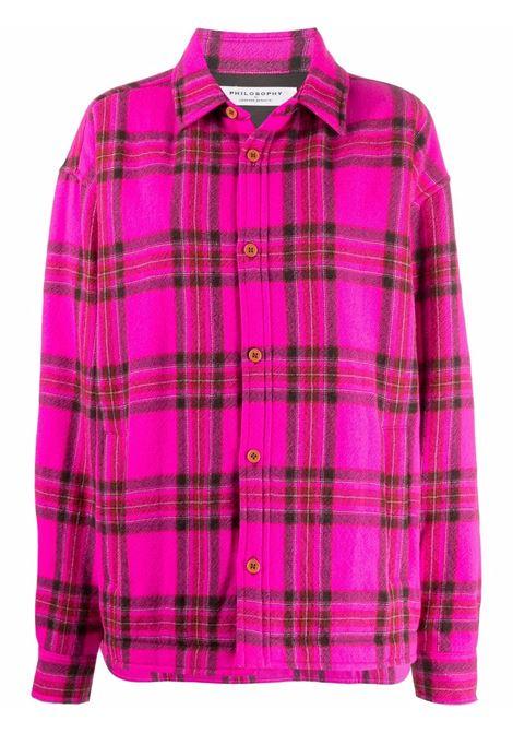 Camicia a quadri in rosa e nero - donna PHILOSOPHY DI LORENZO SERAFINI | A060757361219