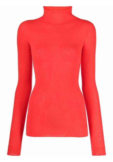 Red roll neck wool jumper - women  PHILOSOPHY DI LORENZO SERAFINI | A09227100129
