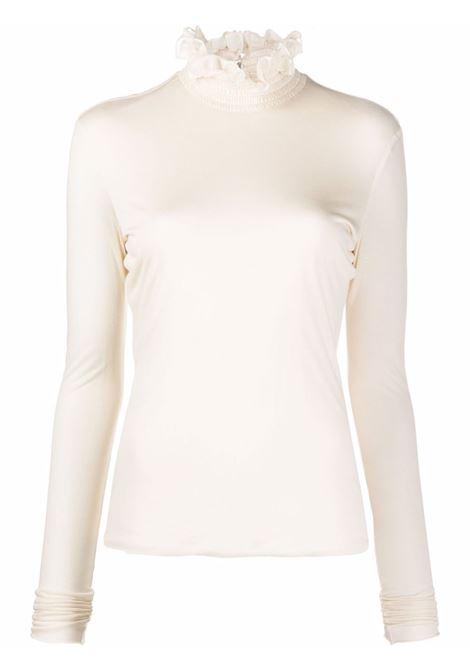 White ruffled-neck top -women  PHILOSOPHY DI LORENZO SERAFINI | A120371342