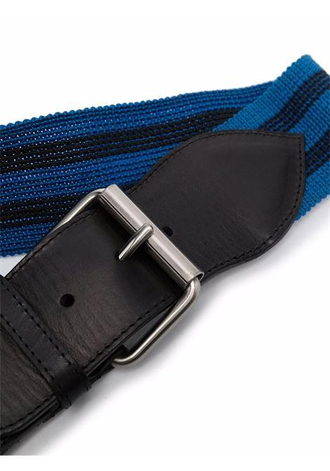 Blue striped buckled belt - women  PHILOSOPHY DI LORENZO SERAFINI   A300771971290