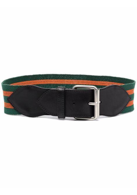 Green striped buckled belt - women  PHILOSOPHY DI LORENZO SERAFINI   A300771971393