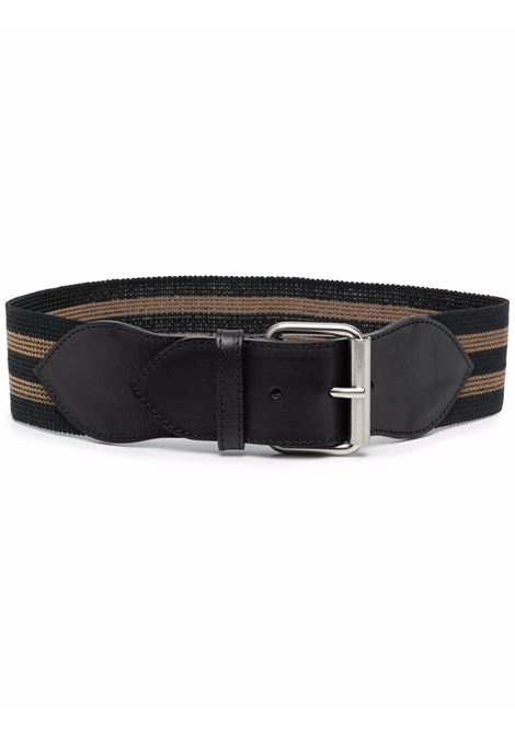 Black striped buckled belt - women  PHILOSOPHY DI LORENZO SERAFINI   A300771971555