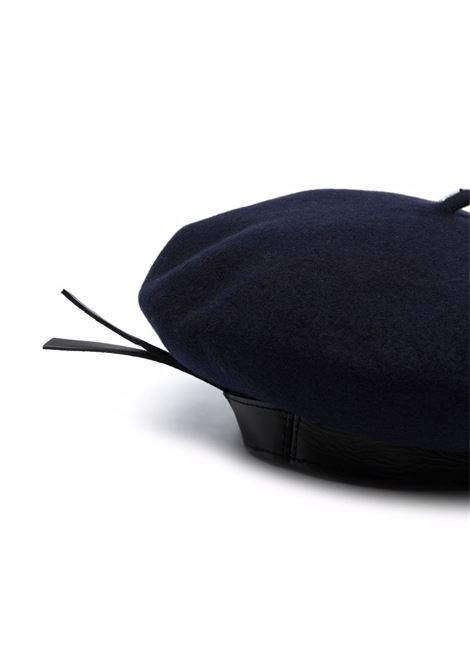 Navy blue Basco wool beret - women  PHILOSOPHY DI LORENZO SERAFINI   A360571931510