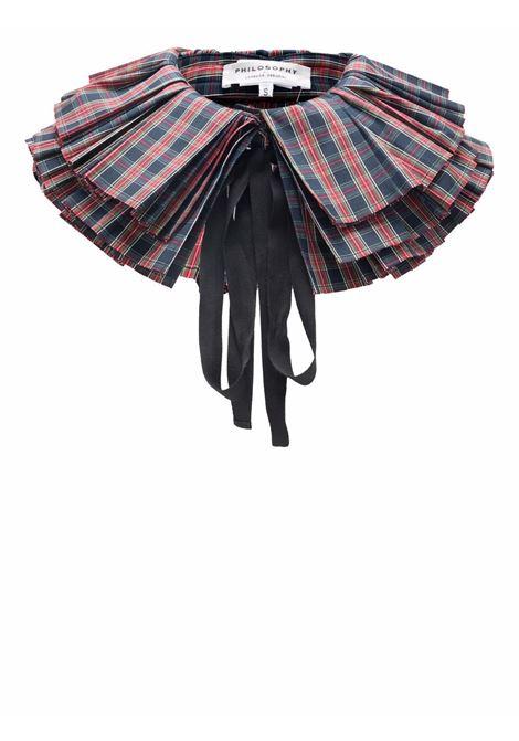 Tartan collar multicolored - women  PHILOSOPHY DI LORENZO SERAFINI | A440157231510