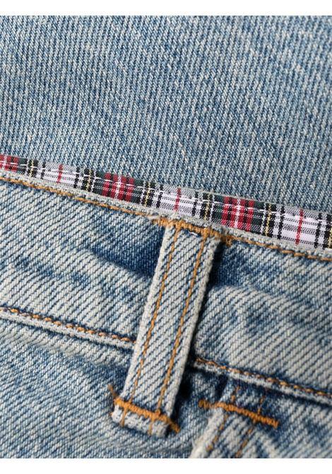 Pale blue cropped denim jeans - women  PHILOSOPHY DI LORENZO SERAFINI | V03075730295