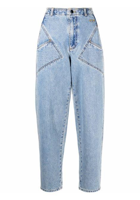 Blue high-rise tapered jeans - women  PHILOSOPHY DI LORENZO SERAFINI | V03205730295
